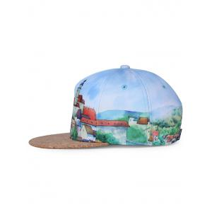 Castle Pattern Adjustable Graphic Hat -