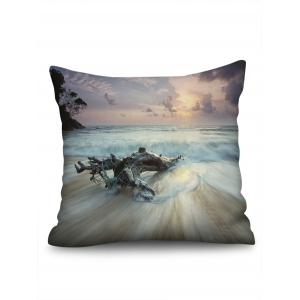Sea Wave Print Decorative Linen Sofa Pillowcase -