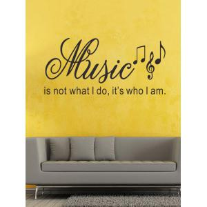 Music Symbol Word Printed Wall Decal -