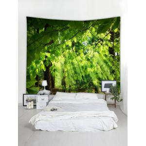 Sunlight Tree Leaves Printed Wall Tapestry -