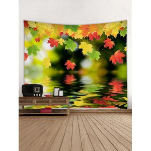 Maple Leaves above the Lake Printed Wall Art Tapestry -