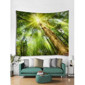 Sunlight Forest Printed Wall Decor Tapestry -