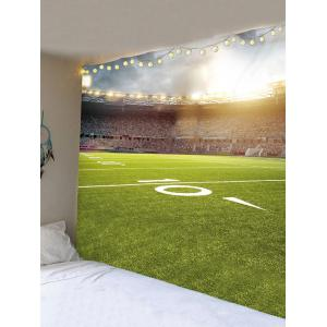Football Playground Printed Wall Decor Tapestry -