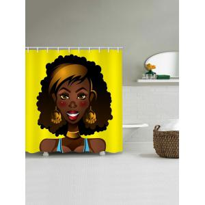 African Women Print Bath Shower Curtain -