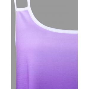 Ombre Butterfly Print Handkerchief Cami Top -