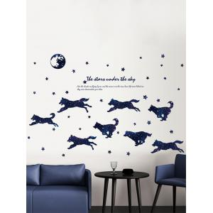 Wolves and Stars Theme Wall Sticker for Bedroom -