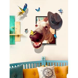 Funny Dog 3D Pattern Wall Sticker for Bedroom -