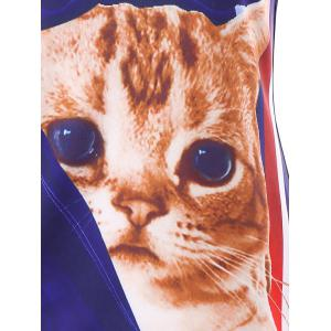 3D Cat Print U Neck Tank Top -