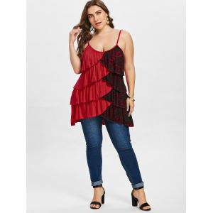 Plus Size Overlap Tiered Tunic Tank Top -