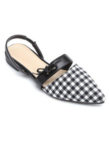 Bow Point Toe Slingbacks Chaussures plates