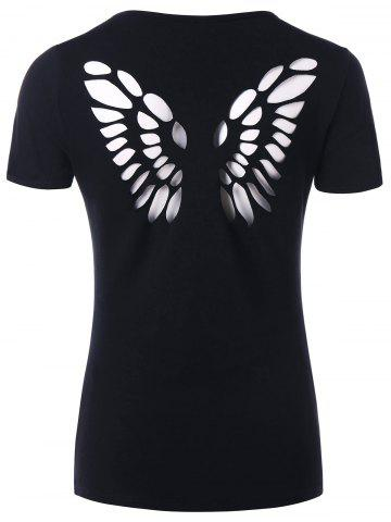 New Butterfly Hollow Out Back T-shirt