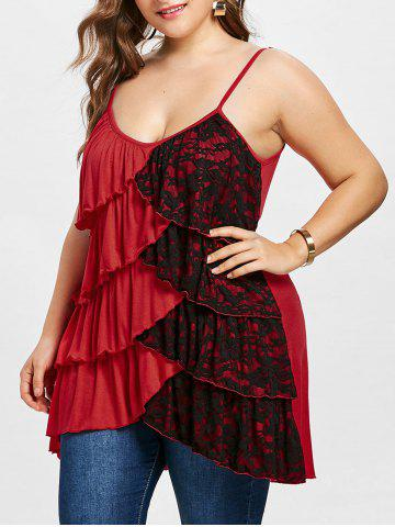 Best Plus Size Overlap Tiered Tunic Tank Top