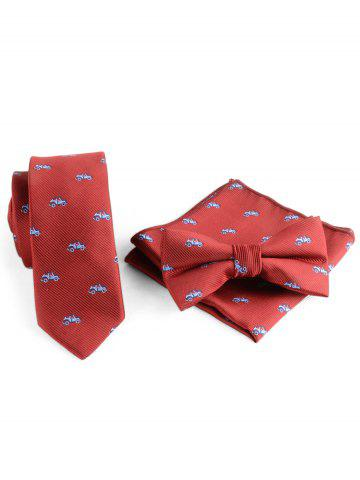 Best Cartoon Vehicle Necktie Bowtie Handkerchief Set