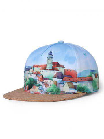Online Castle Pattern Adjustable Graphic Hat