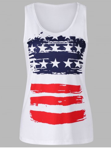 Store Stars and Stripes Print Tank Top