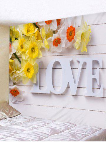 Outfit Love Print Flower Wood Board Wall Art Tapestry