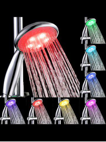 Outfit Multi-color LED Light Water Temperature Control Bath Round Shower Head