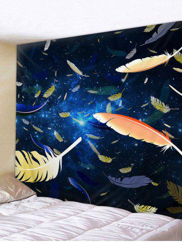 Discount Feathers in the Starry Sky Printed Wall Art Tapestry