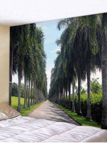 Unique Wall Hanging Art Palm Trees Path Print Tapestry