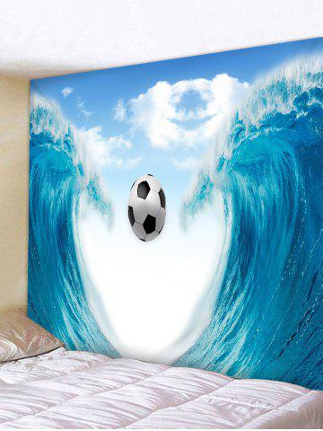 Shop Wall Hanging Art Sea Wave Soccer Print Tapestry