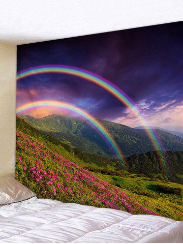 Cheap Mountain Flowers Lawn Rainbows Printed Wall Art Tapestry