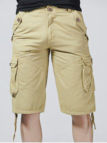 Outfits Drawstring Design Zipper Fly Cargo Shorts with Pockets