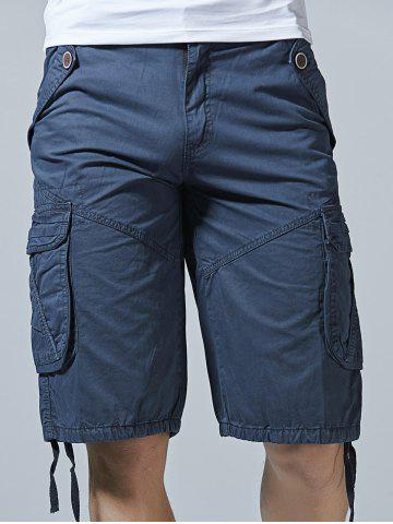 Discount Drawstring Design Zipper Fly Cargo Shorts with Pockets