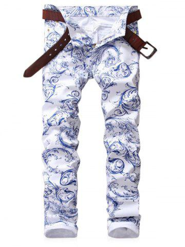 Best Zip Fly Print Slim Fit Jeans