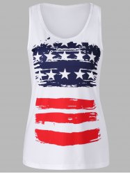 Stars and Stripes Print Tank Top -