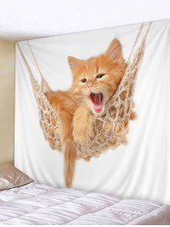 Kitten Pattern Wall Art Hanging Tapestry Home Decoration -