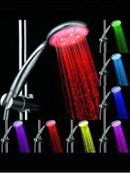 7 Color LED Waterfall Bath Sprinkler Round Shower Head -