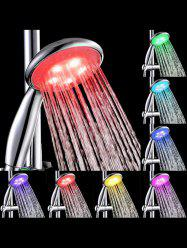 Multi-color LED Light Water Temperature Control Bath Round Shower Head -