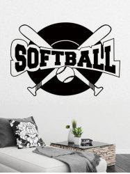 Baseball Sport Pattern Wall Sticker -