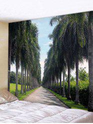 Wall Hanging Art Palm Trees Path Print Tapestry -