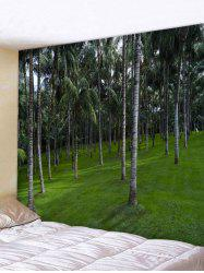 Wall Hanging Art Palm Tree Forest Print Tapestry -