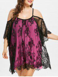 Plus Size Bell Sleeve Lace Cover Up -