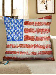 American Flag Pattern Decorative Linen Sofa Pillowcase -