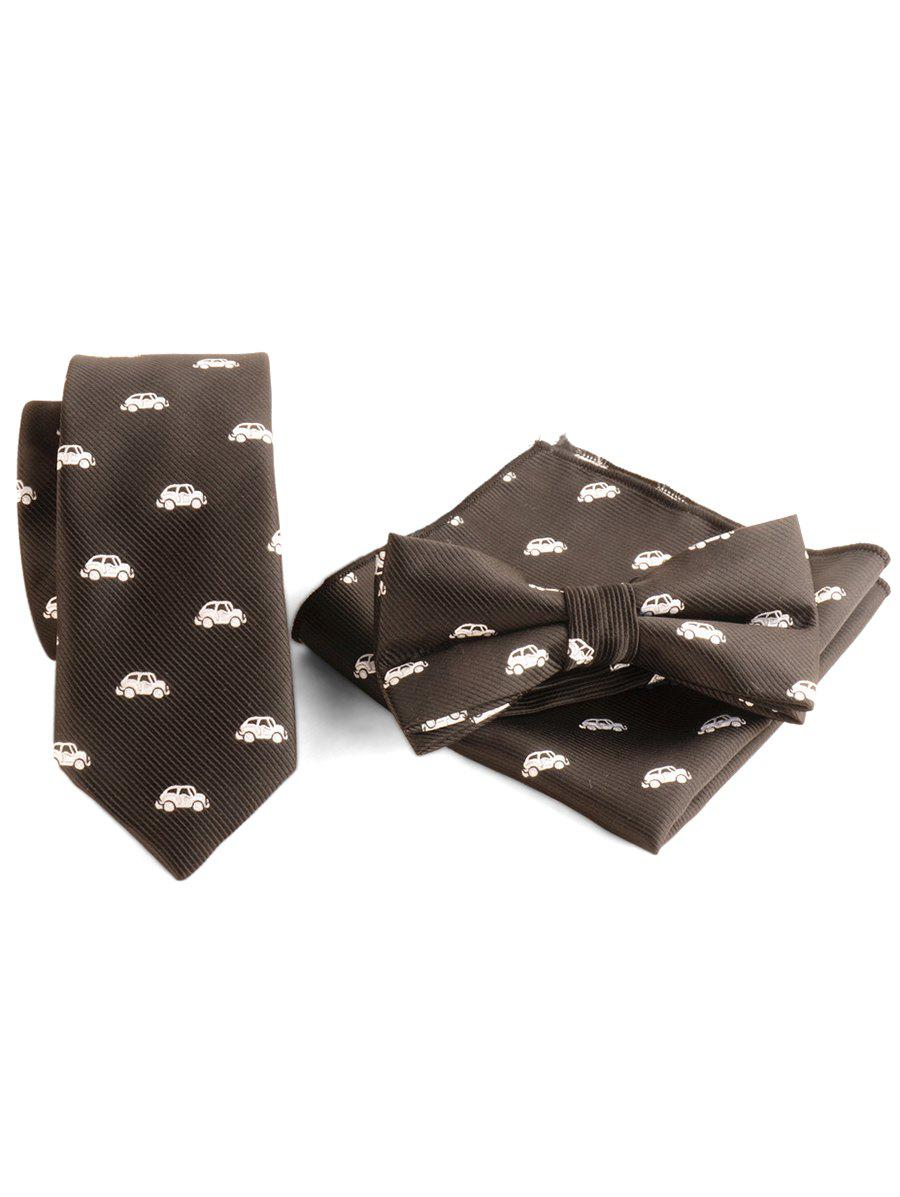 Outfits Cartoon Vehicle Necktie Bowtie Handkerchief Set