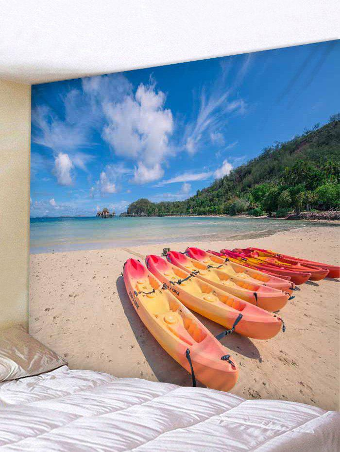 Sale Wall Hanging Art Beach Boats Print Tapestry