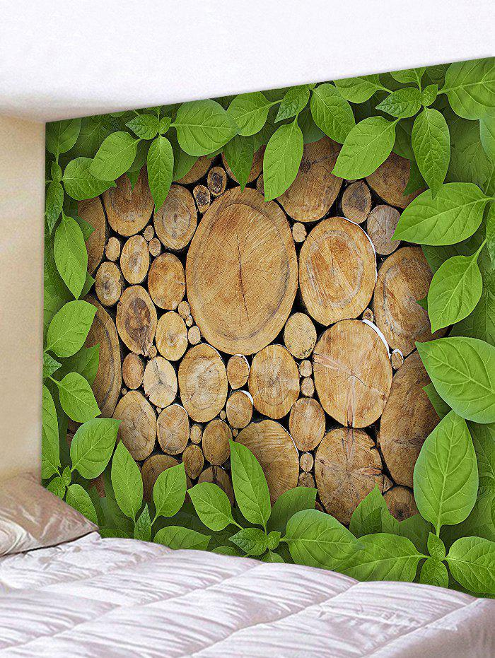 Discount Wood Leaves Printed Wall Decor Tapestry