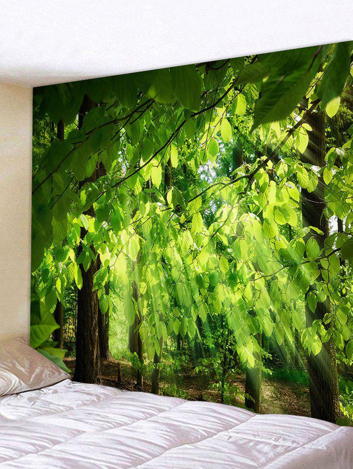 Online Sunlight Tree Leaves Printed Wall Tapestry