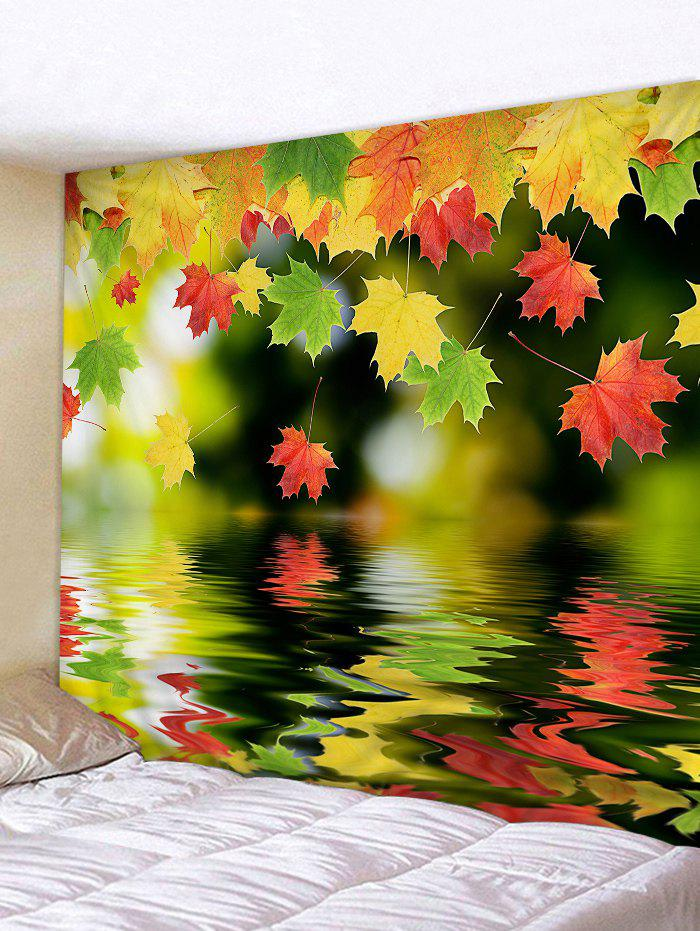 Shop Maple Leaves above the Lake Printed Wall Art Tapestry