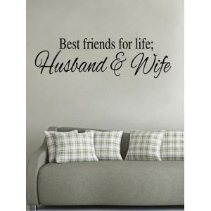 Husband and Wife Dictum Printed Wall Decal -