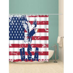 American Flag Eagle Print Fabric Bathroom Shower Curtain -