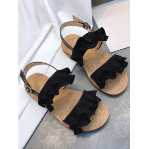 Leisure Ruffles Decorated Sandals for Holiday -