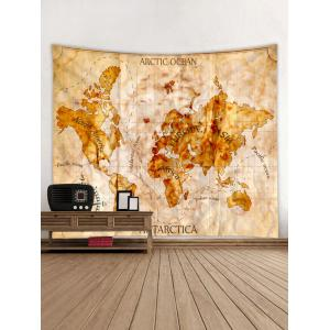 World Map Printed Wall Art Tapestry -