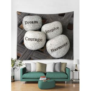 Wall Hanging Art Letters Stones Print Tapestry -