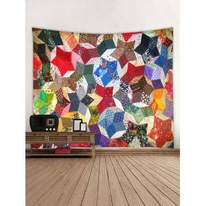 Wall Hanging Art Geometric Patchwork Print Tapestry -