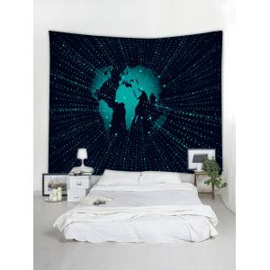 Wall Hanging Art Earth Pattern Tapestry -