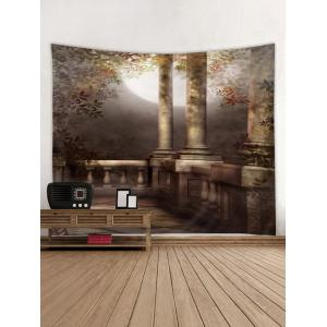 Moon Night Architecture Print Wall Tapestry -